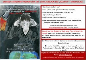 Schreibwettbewerb 125 - Plakat